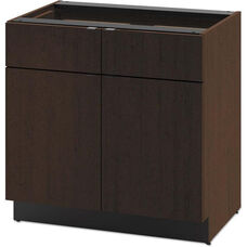 HON® Hospitality Double Base Cabinet with Two Doors and Two Drawers - 36