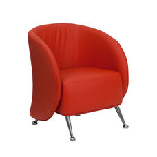 HERCULES Jet Series Red Leather Lounge Chair