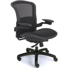 Viper Mesh Back Task Chair with Adjustable Lumbar Support - Black
