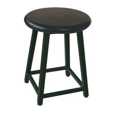 Heavy Duty Stool with Plastic Seat in Black Powdercoat Finish