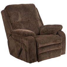 Contemporary Gazette Basil Fabric Rocker Recliner