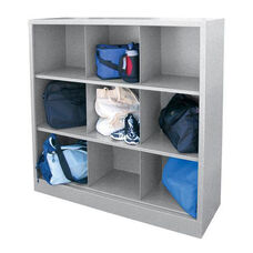 46'' W x 18'' D x 52'' H Cubby Storage Organizer with Nine Sections - Multi Granite