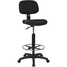 Work Smart Sculptured Seat and Back Drafting Chair with Adjustable Height Seat and Footring