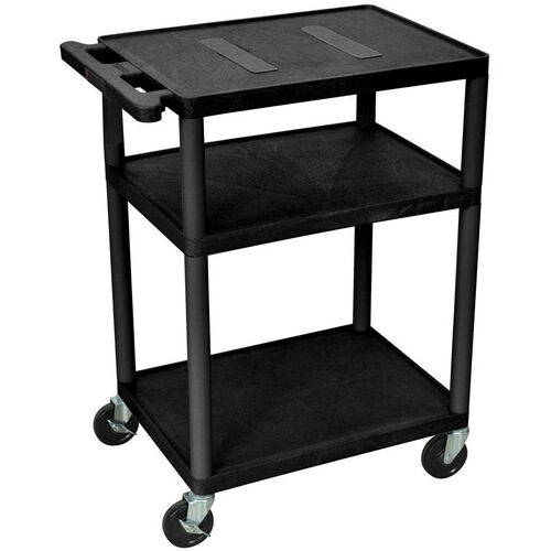 Our Endura 3 Shelf Mobile A/V Cart - Black - 24