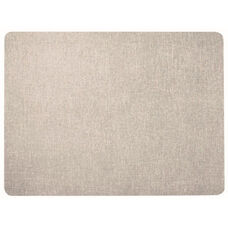 Frameless Burlap Weave Vinyl Display Panel with Radius Corners - Stone - 18
