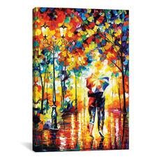 Under One Umbrella by Leonid Afremov Gallery Wrapped Canvas Artwork