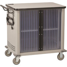 LapTop 32 Capacity UL Approved Cart - Light Gray