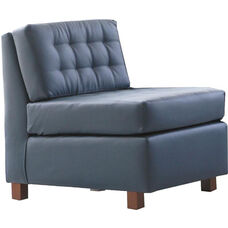 Quick Ship Himalaya Lounge Chair with Wood Legs