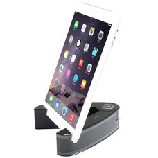 Black and Gray Portable Wireless Bluetooth Enabled Speaker for Tablet/Smart Phone with Rechargeable Battery - 3