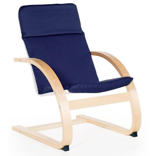 Kiddie Rocker with Removable Cushion and Steam-Bent Plywood Construction - Blue - 16