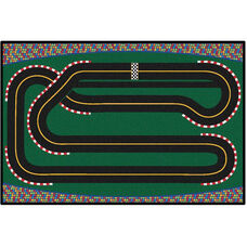 Kids Value Super Speedway Racetrack Rectangular Nylon Rug - 36