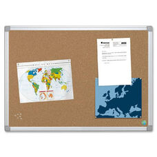 Bi-Silque Aluminum Frame Recycled Cork Boards