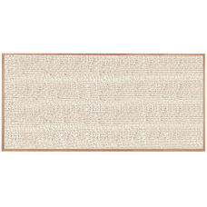 Burlap Weave Vinyl Bulletin Board with Red Oak Frame and Clear Lacquer Finish - Cement - 48