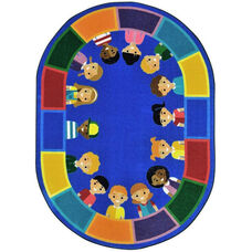 Kid Essentials All of Us Together Nylon Rug with SoftFlex Backing - 64''W x 92''D