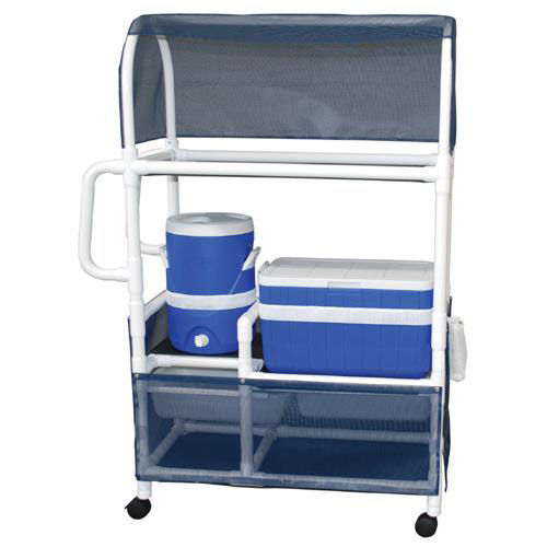 Hydration Cart with Ice Chest and Water Cooler with Canopy and Casters- 20