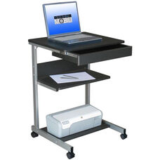 Techni Mobili Rolling Laptop Desk with Storage - Graphite
