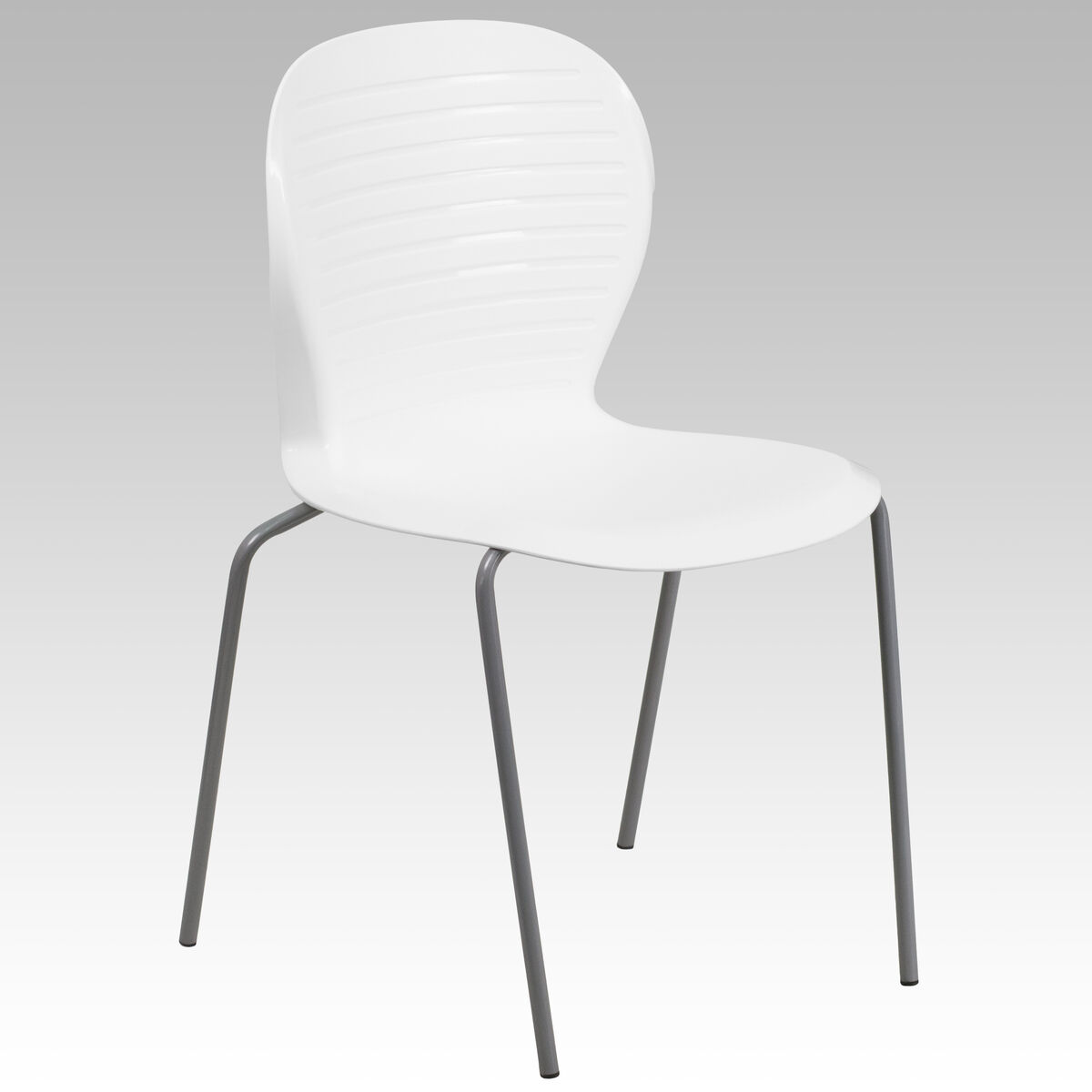 White plastic stack chair rut 3 wh gg for Furniture 4 schools