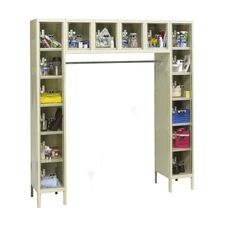 Safety Clear View Plus Box Locker Assembled - 16 Person Unit - Parchment Finish - 72