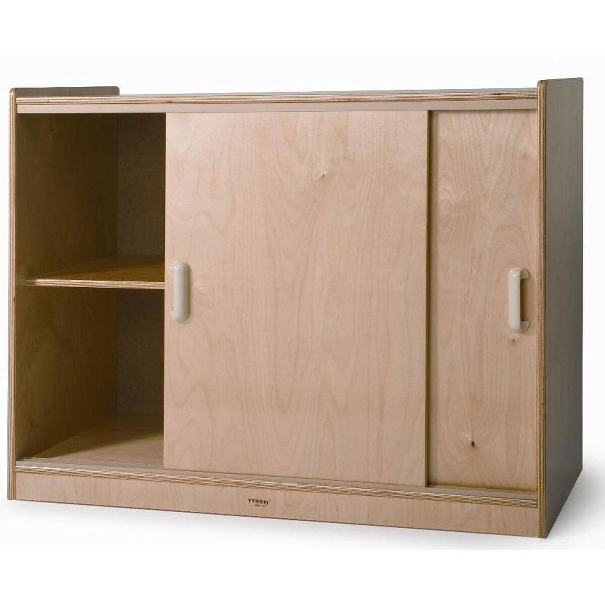 Sliding Door Storage Cabinet Wb9698 Schoolfurniture4less