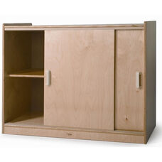 Sliding Doors Storage Cabinet with Single Shelf - 40.5
