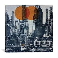 New York Skyline 1948 by db Waterman Gallery Wrapped Canvas Artwork - 26