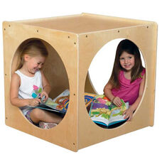 Giant Crawl Thru Baltic Birch Plywood Play Cube with Tuff-Gloss UV Finish - 29