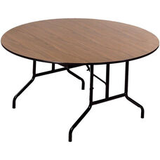 Round Laminate Top and Plywood Core Folding Seminar Table - 72