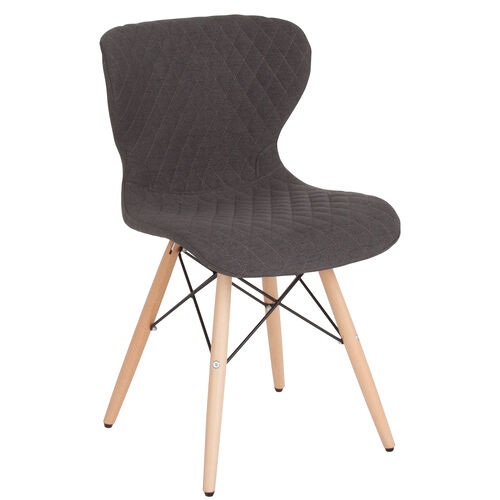 Our Riverside Contemporary Upholstered Chair with Wooden Legs in Dark Gray Fabric is on sale now.