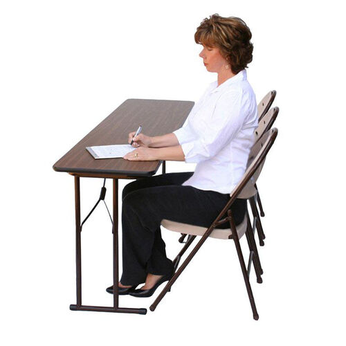 Our Folding Fixed Height Off-Set Leg Rectangular Seminar Table - 18