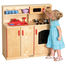 Realistic Birch 4 in 1 Kitchen Play Station with Interior and Exterior Storage