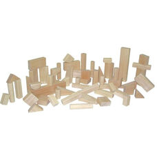 Basic Set of Fifty Six Multi-Shaped Hard Maple Wood Blocks