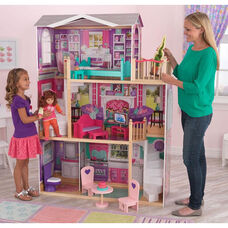 Elegant Wooden Doll Manor for 18