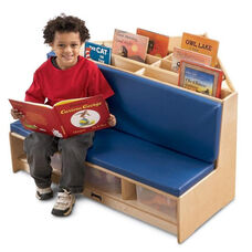 Multi-Functional Corner Literacy Nook with Seating and Book Storage