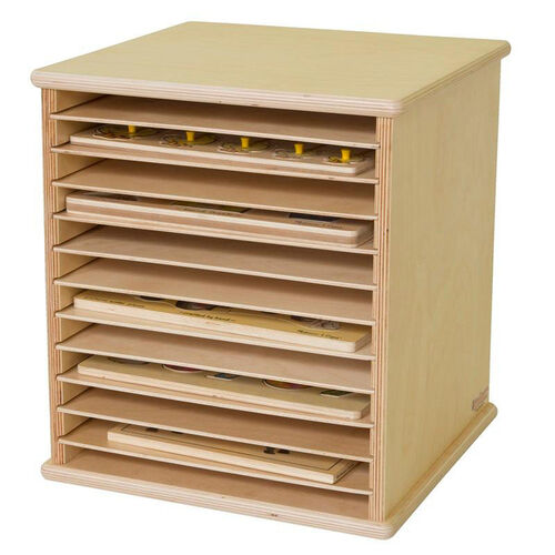 Our Table Top Puzzle Rack with Removable Shelves and Storage for 12 Puzzles - Assembled - 14.37