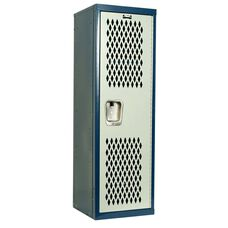 Home Team Locker - Unassembled - Dark Blue Body and Light Gray Door - 15