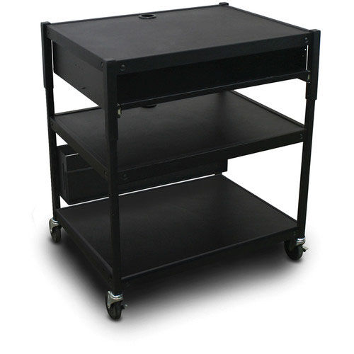 Our Spartan Series Adjustable Media Projector Cart with One Pull-Out Front-Shelf - Black is on sale now.