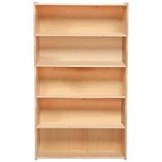 Contender Baltic Birch 5 Fixed Shelf Wooden Bookcase - Unassembled - 30