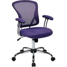 Ave Six Juliana Task Chair with Mesh Seat - Purple