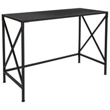 Tiverton Collection Industrial Style Computer Desk in Dark Ash