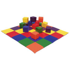 Ultra-Soft Phthalate Free Preschool Patchwork Floor Mat - 58