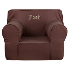 Personalized Oversized Solid Brown Kids Chair