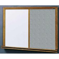210 Series Wood Frame Combo Markerboard and Tackboard - Claridge Cork - 96