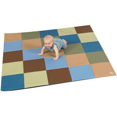 Multi-Colored Vinyl Woodland Patchwork Crawly Mat