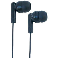 Black In-Ear Highly Comfortable Silicone Ear Buds with Clear Sound and Background Noise Reducing Capabilities