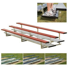 Powder Coated Double Foot Plank Bleachers