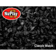 NuPlay Recycled Rubber Loose Fill Mulch - Black - 1.5 Cubic Feet