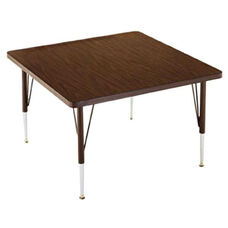 Customizable Square Non-Folding Adjustable Height Activity Table with Chrome Inserts - 36