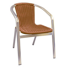 Aluminum Chair with Simulated Wicker