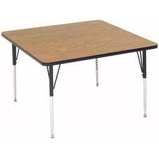 Adjustable Height Square Laminate Top Activity Table - 48''D x 48''W x 19''H - 29''H