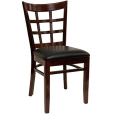 Armless Window Back Dining Chair - Grade 4 Vinyl